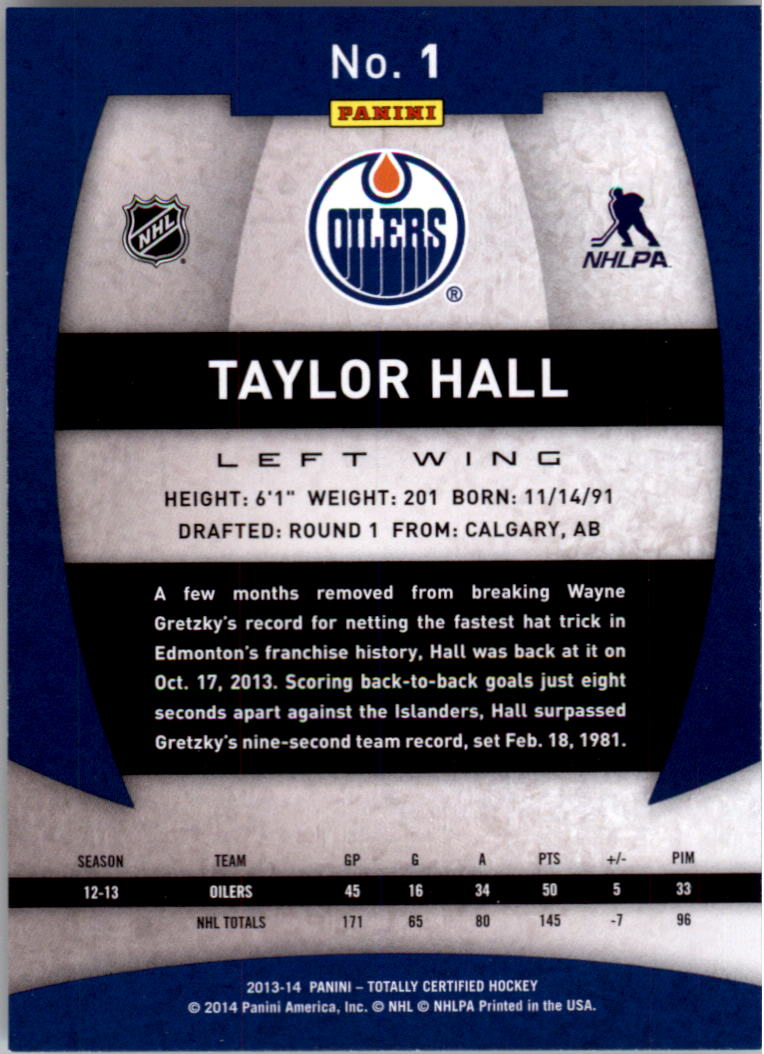 2013-14 Totally Certified #1 Taylor Hall