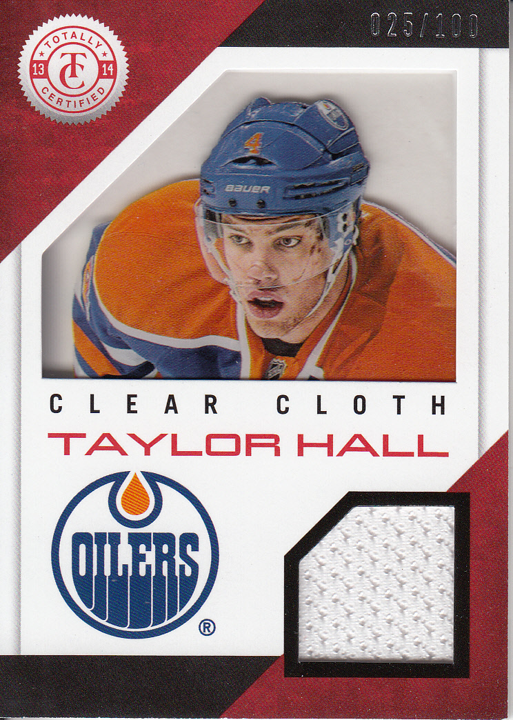 2013-14 Totally Certified Clear Cloth Jerseys Red #CLTH Taylor Hall/100