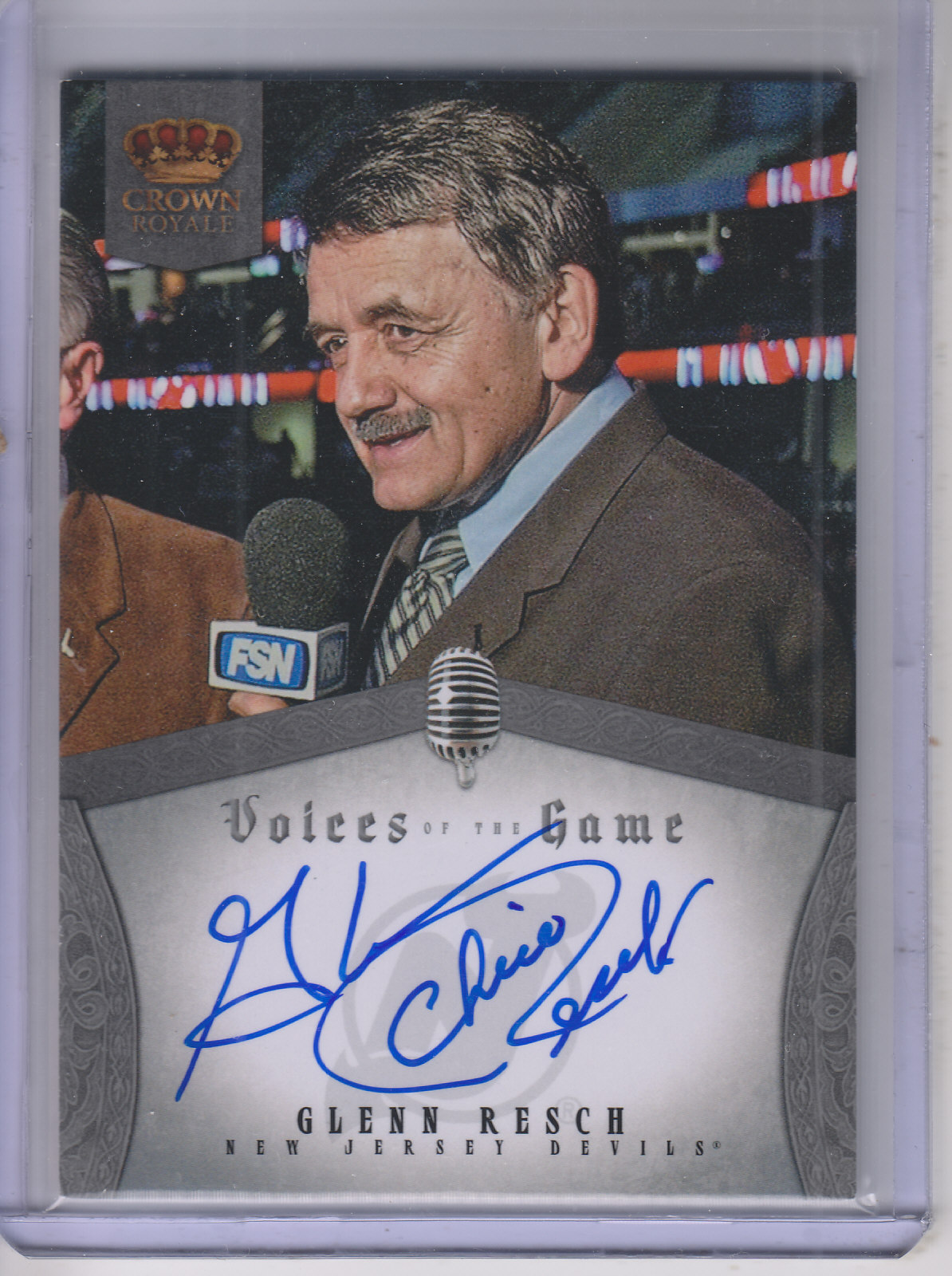 2013-14 Crown Royale Voices of the Game Autographs #VGGR Glenn Resch