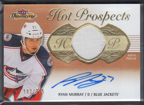 2013-14 Fleer Showcase #181 Ryan Murray JSY AU/375 RC