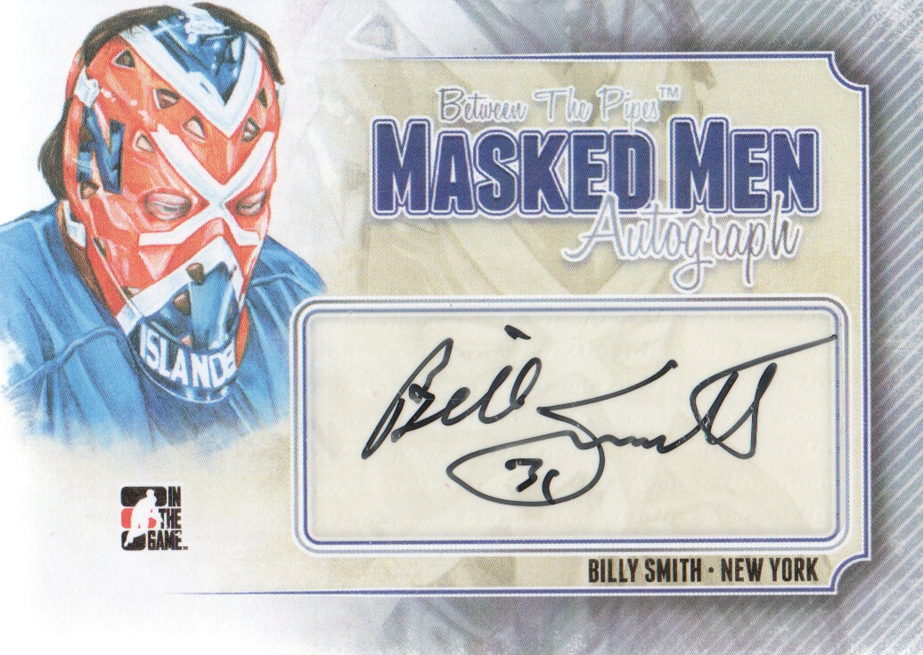 2013-14 Between the Pipes Masked Men 6 Autographs Silver #MMABS Billy Smith