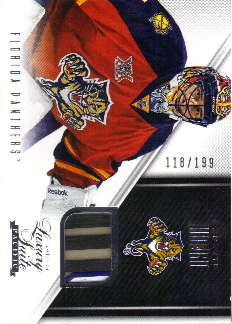 2013-14 Luxury Suite #40 Roberto Luongo STK/199