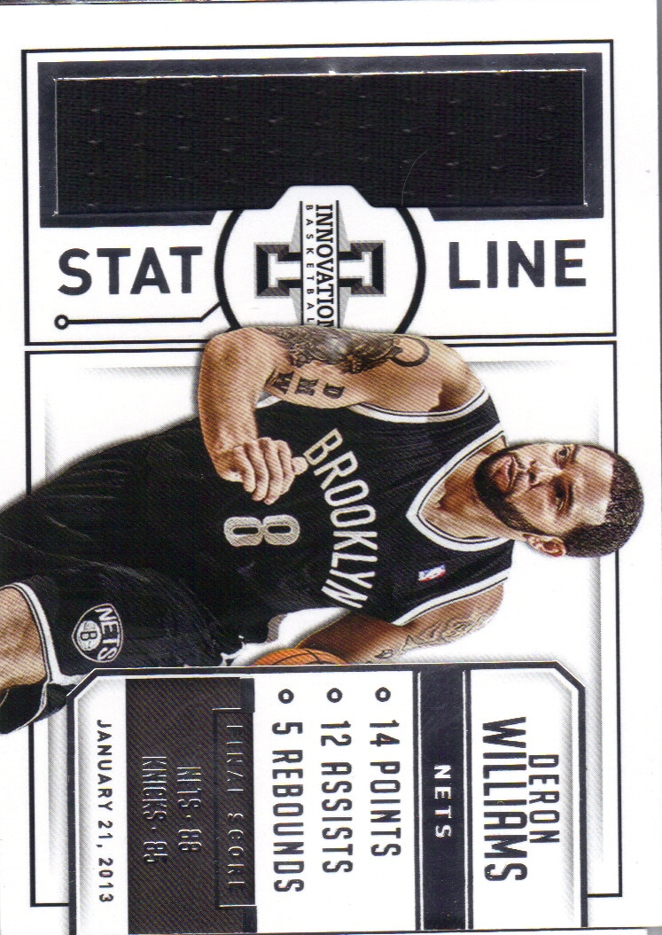 2013-14 Innovation Stat Line Jerseys #8 Deron Williams/175