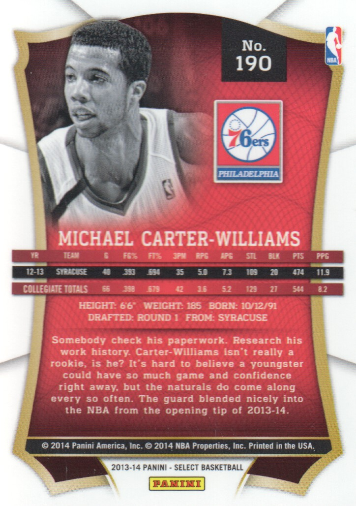 2013-14 Select #190 Michael Carter-Williams RC