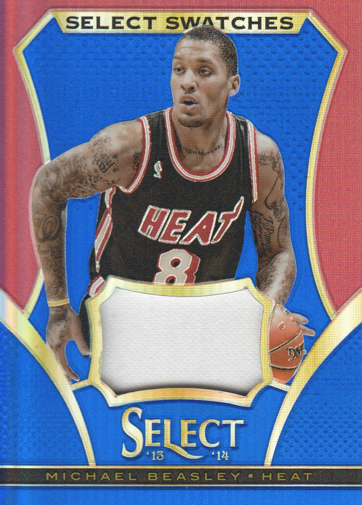 2013-14 Select Swatches Prizms Blue #5 Michael Beasley/49