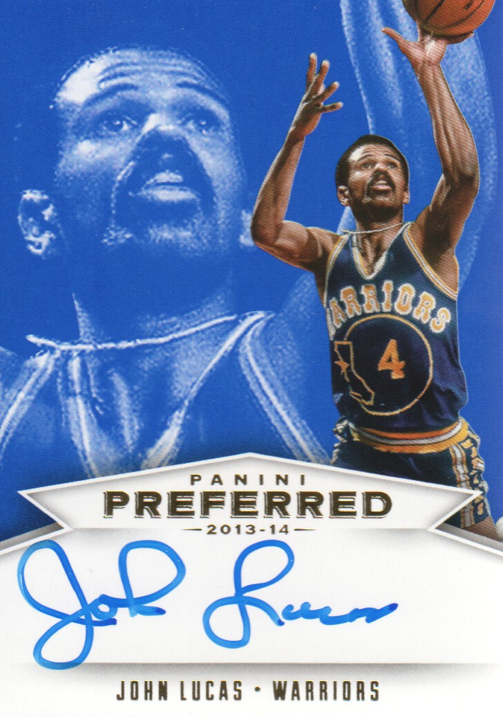 2013-14 Panini Preferred Blue #528 John Lucas PS AU/25