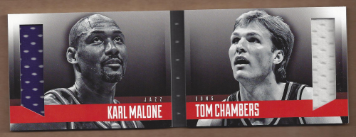 2013-14 Panini Preferred One on One Rivalry Memorabilia #13 Tom Chambers/Karl Malone/199