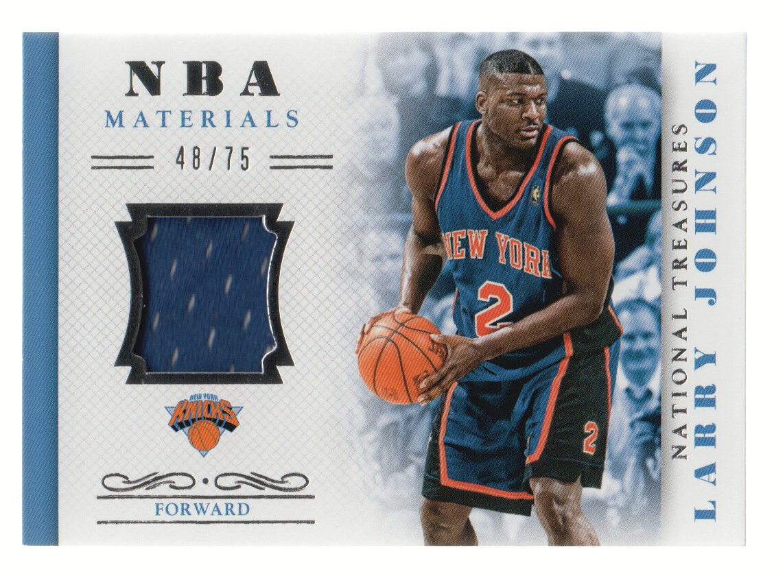 2013-14 Panini National Treasures NBA Materials #37 Larry Johnson/75