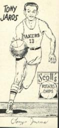 1950-51 Lakers Scott's #6 Tony Jaros