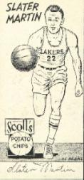 1950-51 Lakers Scott's #8 Slater Martin