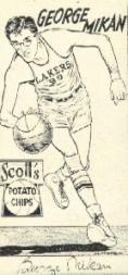 1950-51 Lakers Scott's #9 George Mikan
