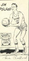 1950-51 Lakers Scott's #12 Jim Pollard