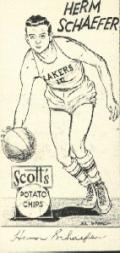 1950-51 Lakers Scott's #13 Herm Schaeffer