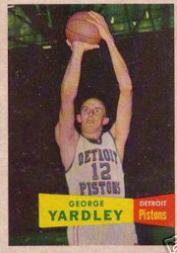 1957-58 Topps #2 George Yardley DP RC