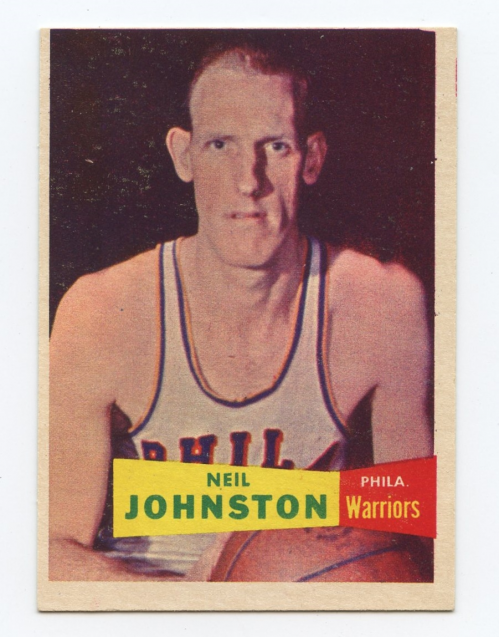 1957-58 Topps #3 Neil Johnston DP RC
