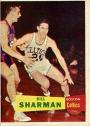 1957-58 Topps #5 Bill Sharman DP RC