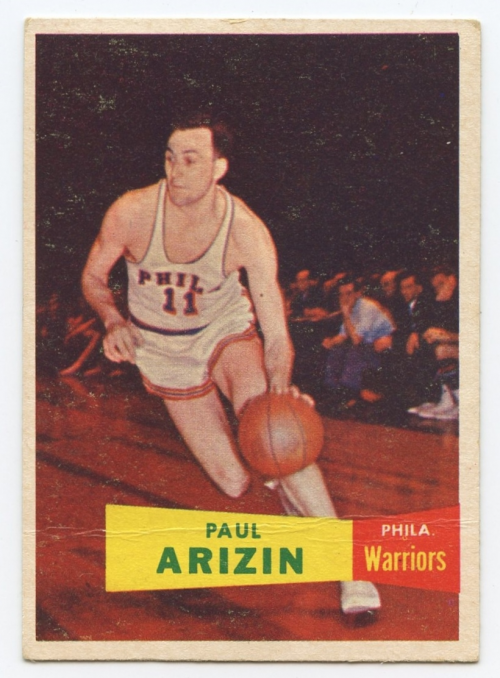 1957-58 Topps #10 Paul Arizin DP RC