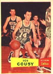 1957-58 Topps #17 Bob Cousy DP RC