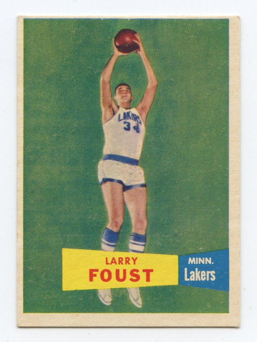 1957-58 Topps #18 Larry Foust DP RC