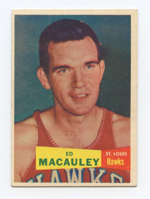 1957-58 Topps #27 Ed Macauley DP RC