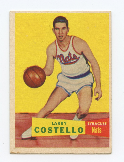 1957-58 Topps #33 Larry Costello DP RC