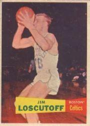 1957-58 Topps #39 Jim Loscutoff RC