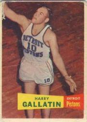 1957-58 Topps #62 Harry Gallatin DP RC