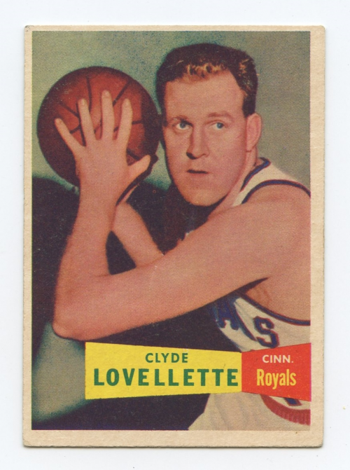 1957-58 Topps #78 Clyde Lovellette DP RC