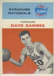 1961-62 Fleer #13 Dave Gambee