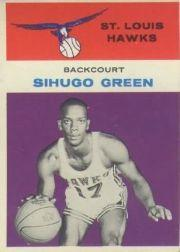 1961-62 Fleer #15 Sihugo Green RC