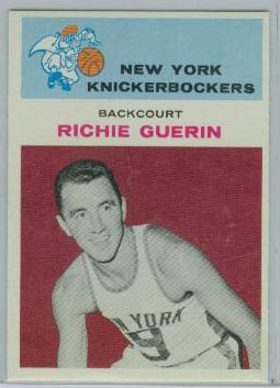 1961-62 Fleer #17 Richie Guerin RC