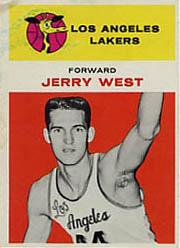 1961-62 Fleer #43 Jerry West RC
