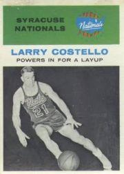 1961-62 Fleer #48 Larry Costello IA