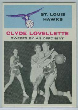 1961-62 Fleer #58 Clyde Lovellette IA