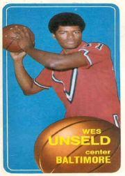 1970-71 Topps #72 Wes Unseld