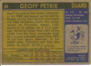 1971-72 Topps #34 Geoff Petrie RC back image