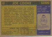 1971-72 Topps #62 Joe Cooke back image