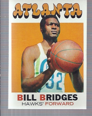 1971-72 Topps #132 Bill Bridges DP