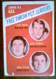 1971-72 Topps #149 Rick Barry/Darrell Carrier/Billy Keller LL