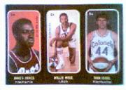 1971-72 Topps Trios #1A James Jones SP/2A Willie Wise/3A Dan Issel