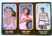 1971-72 Topps Trios #13A Rick Barry SP/14A Larry Jones/15A Julius Keye