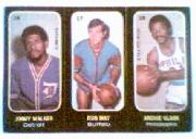 1971-72 Topps Trios #16 Jimmy Walker/17 Don May/18 Archie Clark