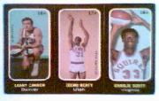 1971-72 Topps Trios #16A Larry Cannon SP/17A Zelmo Beaty/18A Charlie Scott