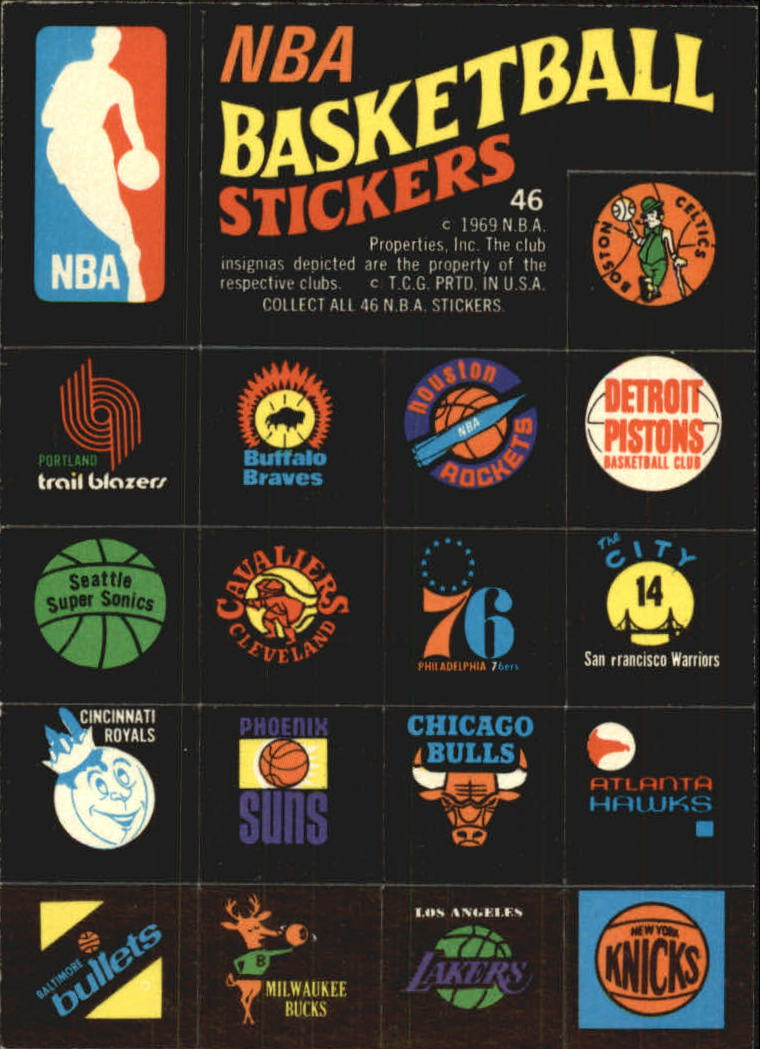 1971-72 Topps Trios #46 NBA Team QP/Logo Stickers