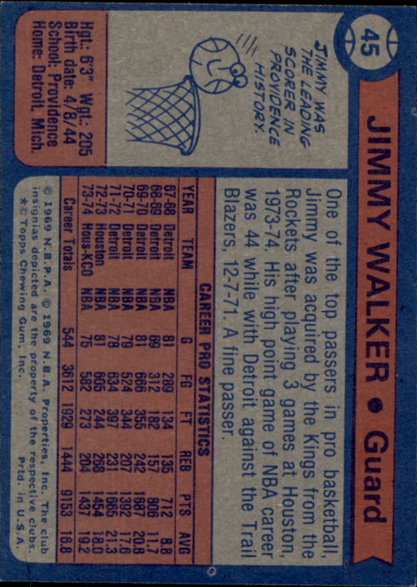 1974-75 Topps #45 Jimmy Walker