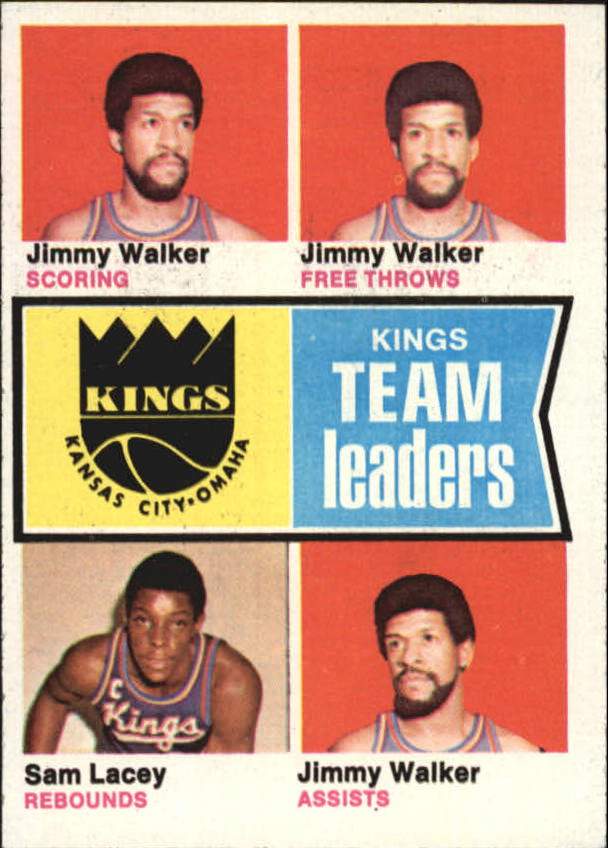 1974-75 Topps #89 Jimmy Walker/Jimmy Walker/Sam Lacey/Jimmy Walker TL
