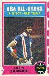1974-75 Topps #180 Artis Gilmore AS1