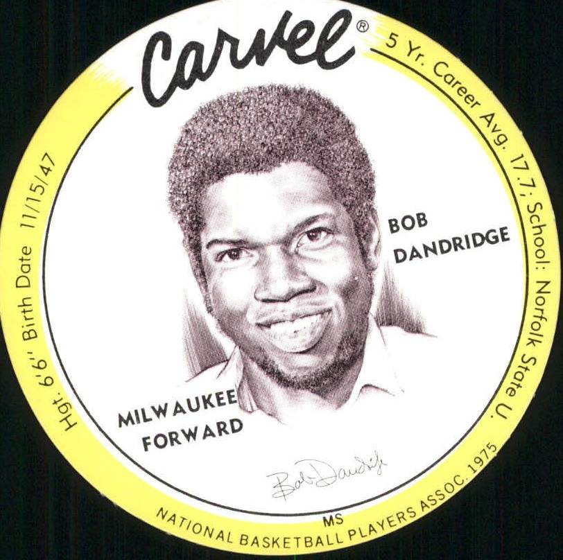 1975 Carvel Discs #6 Bob Dandridge