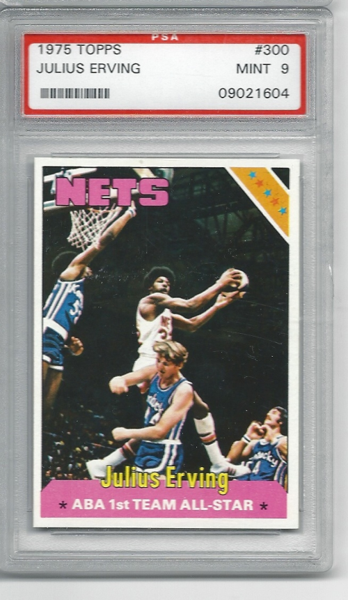 1975-76 Topps #300 Julius Erving AS1 front image