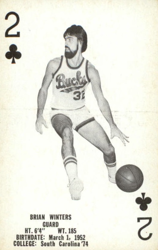 1976-77 Bucks Playing Cards #C2 Brian Winters